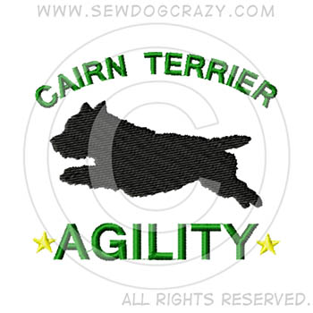 Embroidered Cairn Terrier Agility Gifts & Shirts