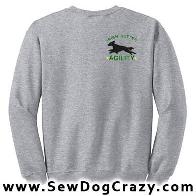 Agility Irish Setter Sweatshirts