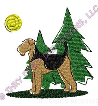 Embroidered Airedale Gifts