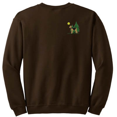 Embroidered Airedale Sweatshirt