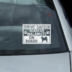 Alaskan Malamute On Board Decal