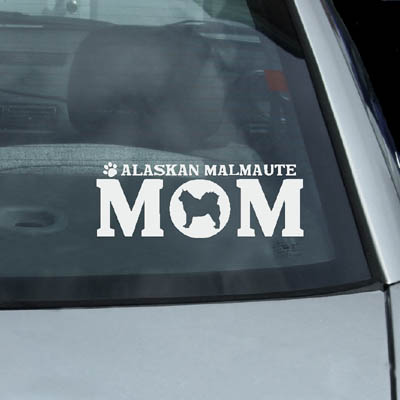 Alaskan Malamute Mom Decals