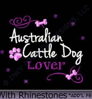 Australian Cattle Dog Rhinestones Embroidery