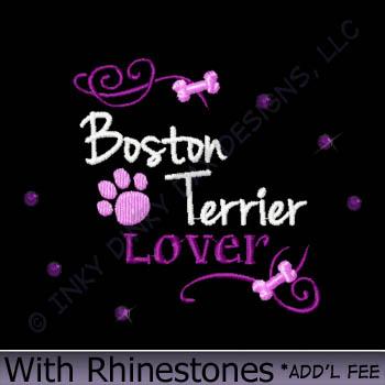 Rhinestones Boston Terrier Apparel