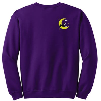 Fun Boston Terrier Embroidered Sweatshirt