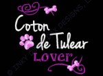 Embroidered Coton de Tulear Apparel