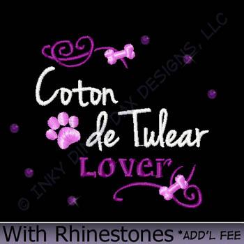 Rhinestone Coton de Tulear Gifts