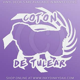 Cool Coton de Tulear Vinyl Stickers