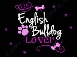 Rhinestones English Bulldog Apparel