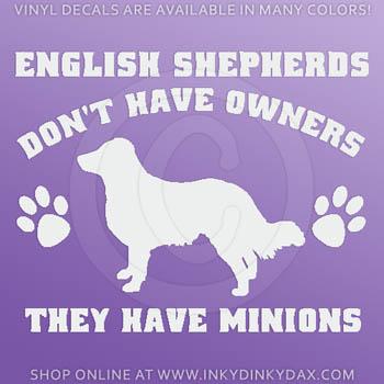 Funny English Shepherd Decals