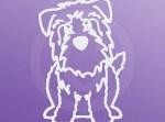 Cartoon Glen of Imaal Terrier Decals