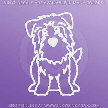 Cartoon Glen of Imaal Terrier Decals