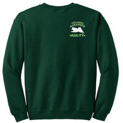 Embroidered Icelandic Sheepdog Agility Sweatshirt