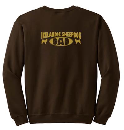 Icelandic Sheepdog Dad Sweatshirt
