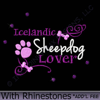 Rhinestones Icelandic Sheepdog Apparel