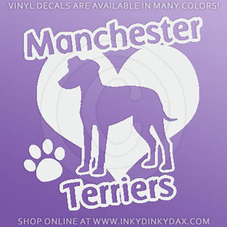 I Love Manchester Terriers Decal