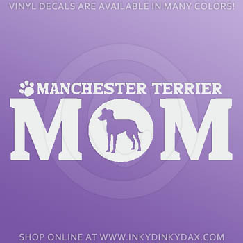 Manchester Terrier Car Stickers