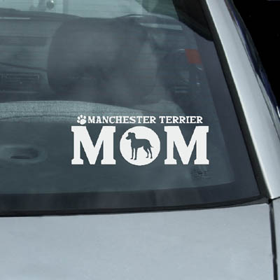 Manchester Terrier Mom Decals