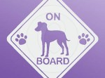 Manchester Terrier On Board Stickers