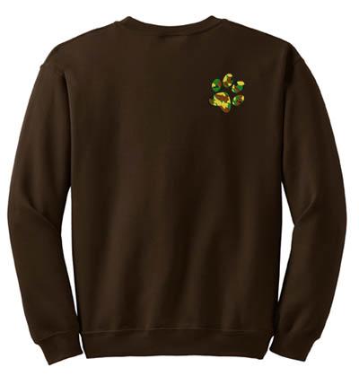 Woodland Camo Paw Print Sweatshirt