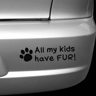 All my Kids Have Fur Decal