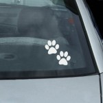 Dog Paw Prints Decal