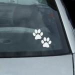 Dog Paw Prints Decal