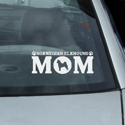 Norwegian Elkhound Mom Decals