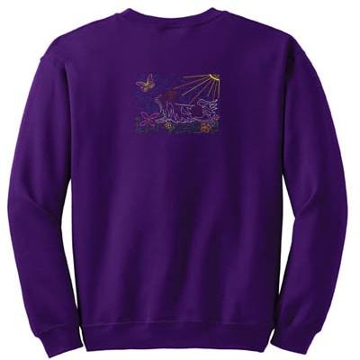 Wearable Papillon Art Sweatshirt