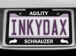Schnauzer Agility License Plate Frame
