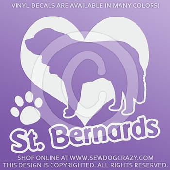Vinyl Love Saint Bernards Stickers