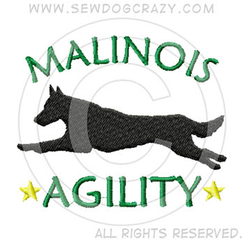 Embroidered Malinois Agility Shirts