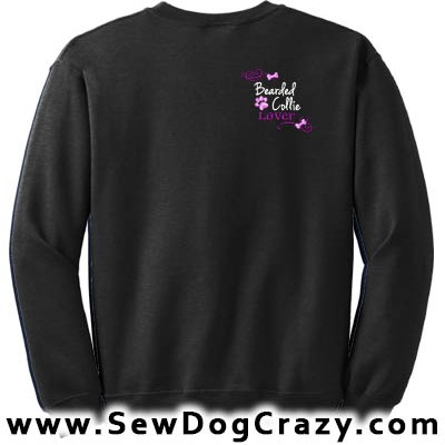 Embroidered Bearded Collie Sweatshirt