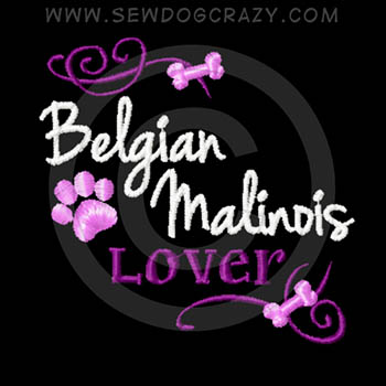 Pretty Belgian Malinois Embroidered Shirts