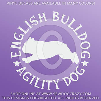 English Bulldog Agility Decals