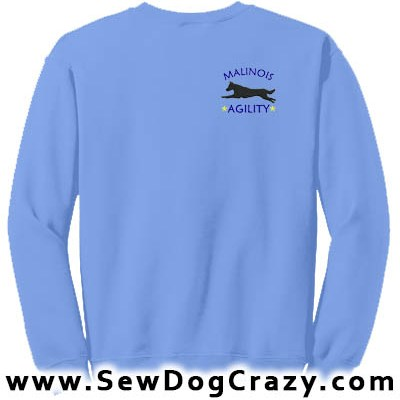 Embroidered Malinois Agility Sweatshirt