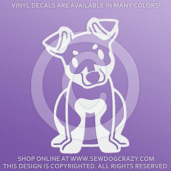 Cute Cartoon Miniature Pinscher Decals