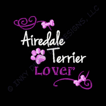 Pretty Airedale Terrier Embroidery