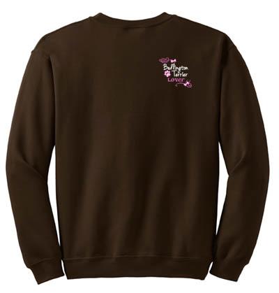 Embroidered Bedlington Terrier Sweatshirt