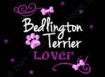 Rhinestones Bedlington Terrier Embroidery