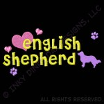 Cute Embroidered English Shepherd Apparel