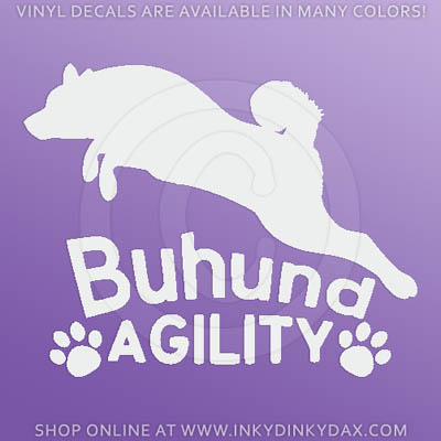 Norwegian Buhund Agility Decals