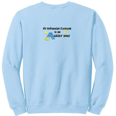 Norwegian Elkhound Agility Dog Sweatshirt