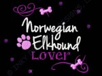 Rhinestones Norwegian Elkhound Embroidery