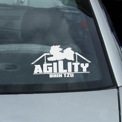 Shih Tzu Agility Dog Decals
