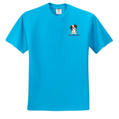 Cute Embroidered St Bernard T-Shirt