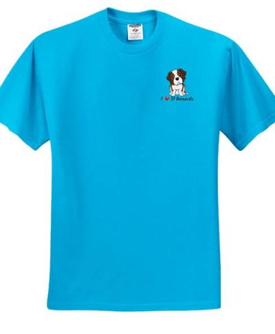 Cute Embroidered St Bernard T-Shirt