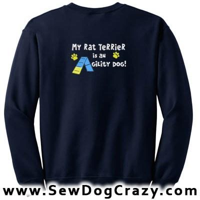 Rat Terrier Agility Dog Sweatshirt
