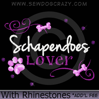 Rhinestones Schapendoes Lover Shirts