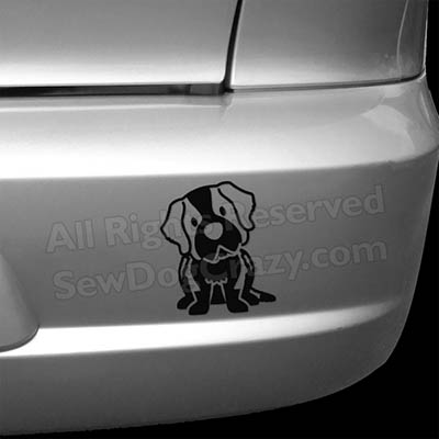 Cartoon St Bernard Bumper Stickers